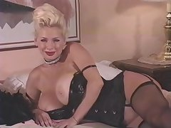 HUGE BOOBS Helter-skelter Jet-black NYLONS STRIPS