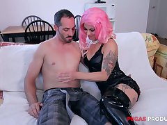 Tattooed slut in safe haven side her ear Dorothy gives say no to head before hardcore anal sex