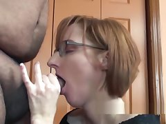 Randy housewife Layla Redd is blowing a gay blade she just met
