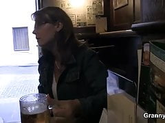 Prex mature floozie is picked up in the bar with the addition of fucked