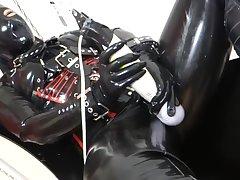 Japanese bird orgasm to latex gear