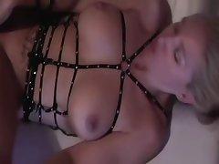Pulchritudinous blonde milf around hot pain in the neck enjoys obese black cock