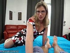 Slutty Jocular mater Cory Chase Gives Step Son a Helping Hand increased by Pussy