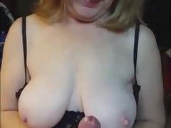 Super handjob leas respecting a cum explosion after witch she smears her boobs with my jizz.
