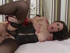 Glam Undergarments Mature Fucked In Hairypussy