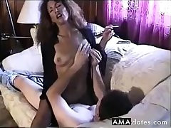 Hot Sexy Ill-lighted Smoking and Riding Cock