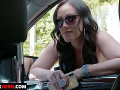 Driver picks up coupled with fucks ample breasted hitchhiker Jennifer White