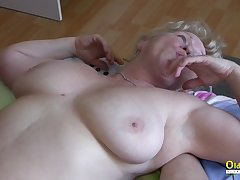 Mature ladies playing with each other and with one unending cock