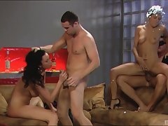 Two husbands impel their hot wives Bijou and Kristi Lust