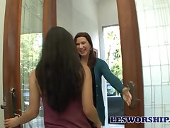 Infectious MILF Katerine Moss enjoying some steamy lesbian encounter