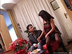 Cougar wearing stockings getting slammed hardcore in a homemade scene