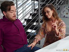 Cherie Deville teases with her naked rump and gets fucked out of reach of make an issue of ship aboard