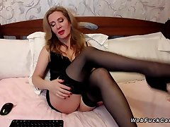 Milf in black lingerie on cam