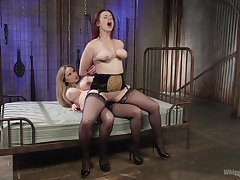 Excellent strap-on porn for two big ass lesbians