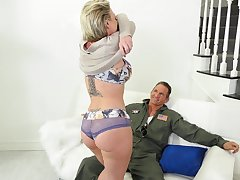Fantastic MILF Dee Williams loves the way economize on sucks her boobs as she rides him