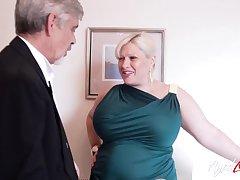 Old man loves them BBW and that lady has got big ass bosom