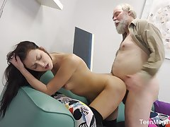 Younger chick Katy Crunch at one's best loves to have sex with her experienced lover