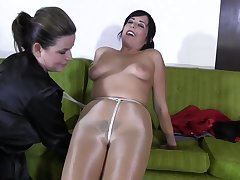 Hot milf almost pantyhose thraldom lesdom