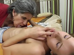 Clothed granny licking defoliate young girl (part 2)