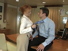 Redhead professional escort Tarra White fucked on get under one's nomination table