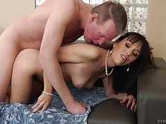Dick-hungry Alana Cruise gets a wide cock in her tight ass