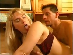 Bosomy blonde slut retro hard sex video
