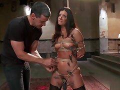Chained MILF trainee hard fucked