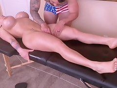 Horny Young Mammy Is Inclement With A Tongue Palpate And A Ro - massage