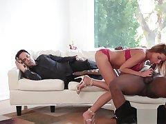 Wanton girlfriend fires up a meat member