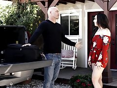Big portray breasts Reagan Foxx cheats on her hubby with a neighbor