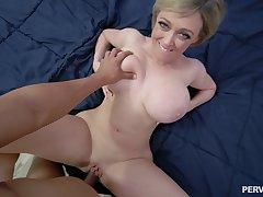 Mature with huge tits, insane POV with a black dude