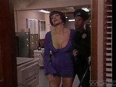 Close up video of a police officer fucking aggravation of Jeanne Fine