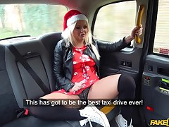 Fake interior MILF Louise Lee spreads their way legs to be fucked by the taxi driver