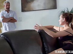 Forbidden fucking be fitting of teenage Cassidy Klein and an unlikely older lover
