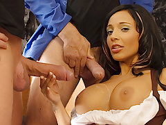 3 Way Fuck - British MILF Romana Ryder Bangs Two Hung Miners
