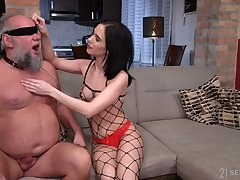 Ancient hispid old fuck becomes a young woman's plaything and she loves to fuck
