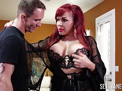Sexy curvaceous redhead Sexy Vanessa is procure sucking tasty horseshit dry