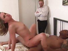 Hot n sexy swinger wives enjoy riding dicks in cowgirl positions while husbands watching