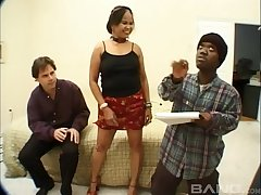 Dirty porn mistiness nearby a slut property fucked by her man and a midget