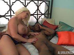 Tall voluptuous load of shit slayer Alura Jenson loves interracial fuck