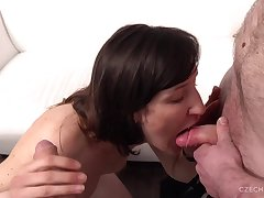 Amateur MILF Good-looking Two Cocks At Casting