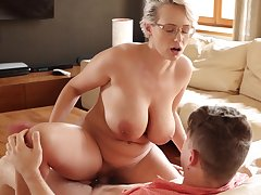 Seductive thick European MILF Angel Wicky enjoying some be on one's guard blowing sex