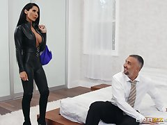 Big-chested Madison Ivy fucks her husband's business partner