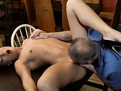 Old guy licks pussy and irritant teacher fucks Can you trust