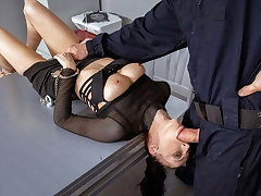 LAW4k. Girl receives policemans cock forth mean cozy botheration