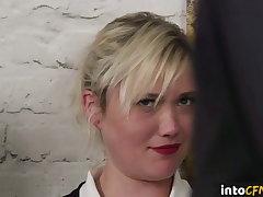 CFNM British schoolgirls whacking big group handjob