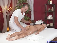 Sexy massage shag for lovely brunette Shrima Malati