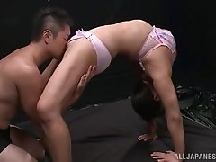 Soft oral porn be worthwhile for a flexible amateur Japanese with meticulous tits