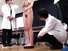Japanese schoolgirl villeinage with bus uniform added to gym suit