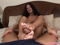 Anya Foot Job, Blowjob, Fuck